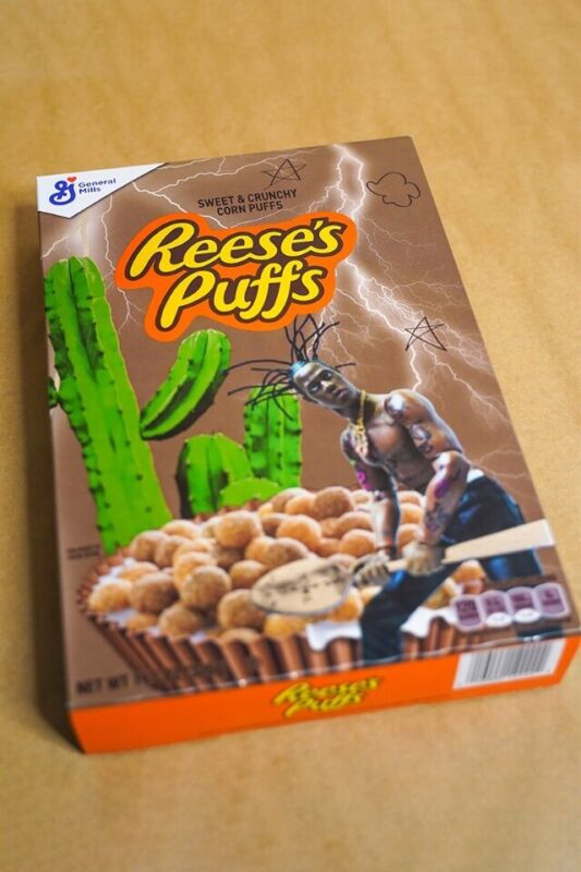 Travis Scott Reeses Puffs Cereal **CONFIRMED ORDER** **LIMITED**