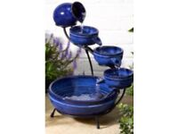 New in box Solar Cascade Water Feature