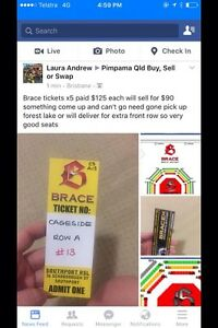 Brace tickets for sale BARGAIN!!! Narangba Caboolture Area Preview