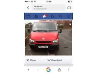 Ford transit bonnet in red