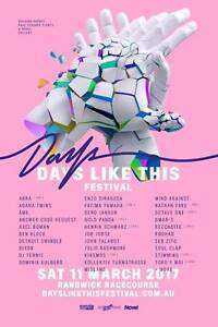 2 x GA Days Like This Festival Tickets Manly Manly Area Preview