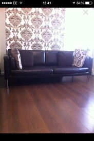 3 seater faux leather sofa