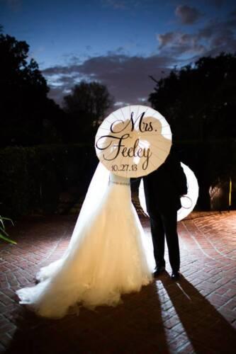 Wedding Parasol Ceremony Umbrella Bridal Accessory Mr and Mrs Photography Prop
