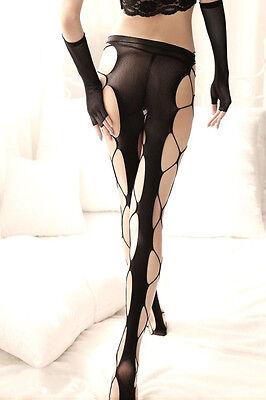 Women Sexy Stockings Elastic Socks Top Hollow Big Fishnet Stockings (Elastic Top Fishnet Stockings)