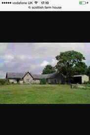 Farm house or similar wanted