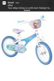 """Frozen 16"""" bike"""