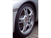 Genuine Porsche alloys and new Goodyear N rated tyres.