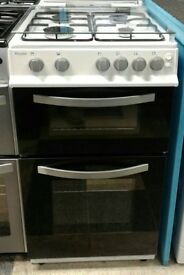 I584 white & black royale 50cm gas cooker with warranty can be delivered or collected