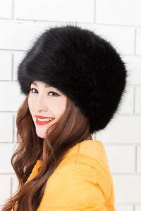 Fashion Style  Ladies Faux Fox Fur Russian Cossack Style Winter Hat Warm  Cap