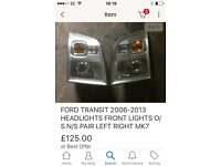 Ford transit head lights