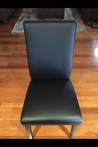 10x or x8 Black leather Look dining chairs North Melbourne Melbourne City Preview