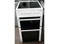 a804 white beko 50cm ceramic hob electric cooker comes with warranty can be delivered or collected