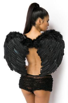 ATX 11060 Flügel schwarz Gothic Karneval Black Engel Vampir Fee Kostüm
