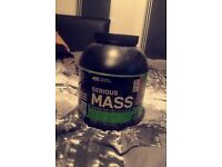 Optimum Nutrition Serious Mass Calorie rich protein source, Strawberry flavour