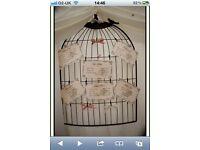 Metal bird wedding table plan X 2