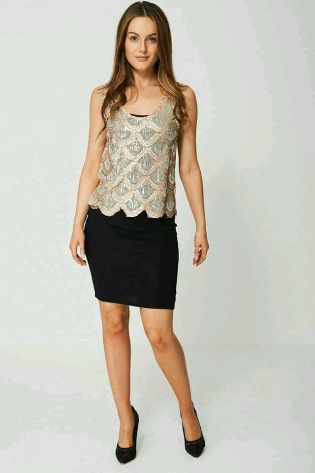 2 in 1 Pencil Dress With Sequin cape Overlay
