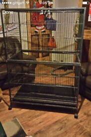 Large animal cage on wheels suitable for birds, parrots, budgies, ferrets, chinchillas