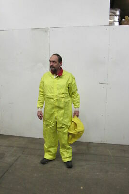 Eg Euclid C-853-31 Protective Coveralls Xl 48-50 Safety Yellow Cotton
