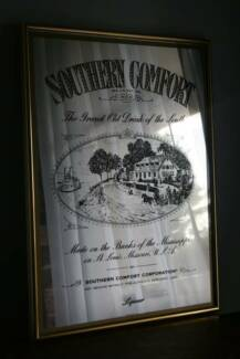Vintage Southern Comfort Bar Mirror