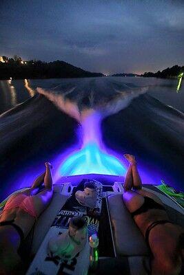 BLUE LED BT2 BOAT DRAIN PLUG LIGHT 1000 LUMENS UNDERWATER LED  FISHING LIGHT