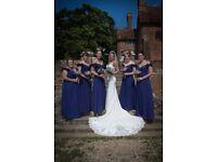 3 Cadbury purple bridesmaid dresses for sale