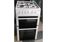 N318 white beko 50cm gas cooker comes with warranty can be delivered or collected