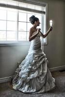 Stunning custom made one of a kind A-line/Princess Wedding Dress