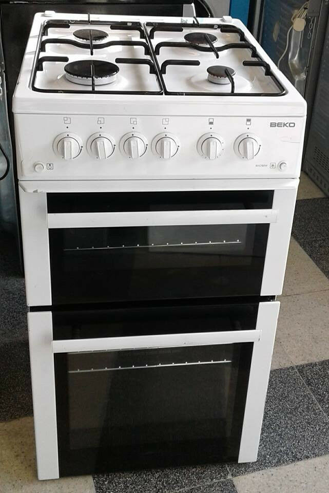 H318 white beko 50cm gas cooker comes with warranty can be delivered or collected