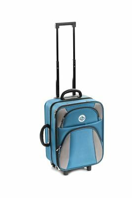 Drakes Pride Trolley Bag Petrol Blue - Crown / Lawn Green Bowls Trolley Bag Set