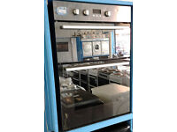oo38 mirrored finish hotpoint double integrated electric oven comes with warranty can be delivered