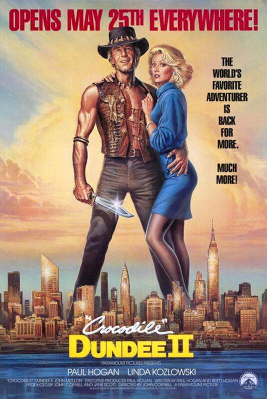 Crocodile Dundee II (1988) Movie Poster, Original, SS, Unused, NM, Rolled