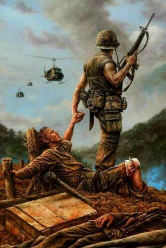 Vietnam War U.S. Army No Man Left Behind Beautiful 8.5x11 Matte Art