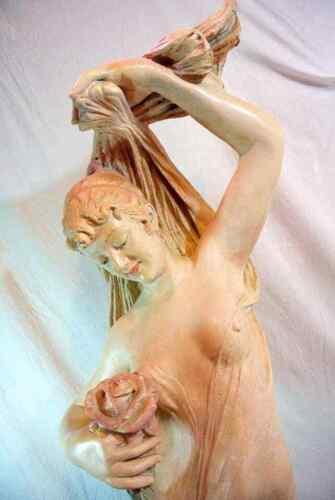 Cesare Lapini Danza de fiori Nouveau flowers Italian female statue sculpture