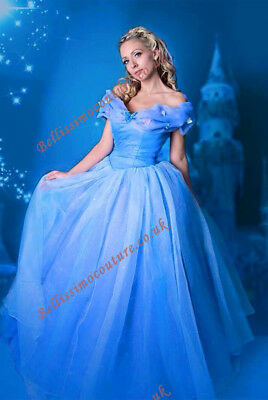 Disney Princess New Cinderella Costume adult SIZE 6,8,10,12,14,16 New movie](Disney Princess Dresses Adult)