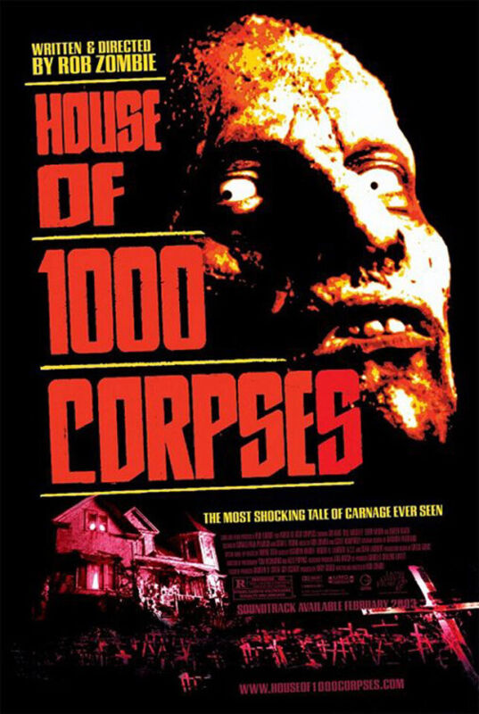 House of 1000 Corpses (2002) Movie Poster, Original, SS, Unused, NM, Rolled
