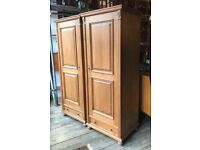 Large Pine Single Wardrobes