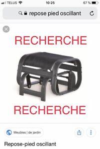 RECHERCHE repose-pied (pouf) oscillant (berçant)