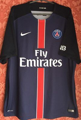 ebdcf822eedf1 Paris Saint Germain PSG St Authentic Nike 2008-09 Football Soccer Jersey  Shirt