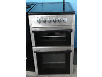 c418 stainless steel beko 50cm ceramic hob electric cooker comes with warranty can be delivered