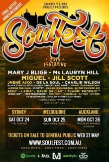 Selling Soulfest ticket X 1 GA Sydney City Inner Sydney Preview