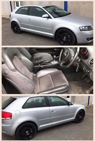 Audi A3 Quattro Sport 3.2v6 Auto(04) MOT August 17, Half leather/suede