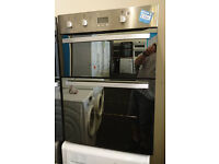 Ho28 stainless steel and mirror finish hotpoint integrated double oven new graded with full warranty