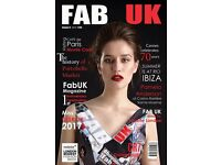 Voluntary Work for FabUK magazine Wedding Section Join our team - based in LONDON