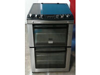 a289 stainless steel zanussi 55cm double oven ceramic hob electric cooker comes with warranty