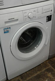 B155 white siemens 8kg 1200spin washing machine comes with warranty can be delivered or collected