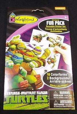 Teenage Mutant Ninja Turtles  Colorforms fun pack 2 backgrounds 18 stickers](Teenage Mutant Ninja Turtles Background)