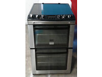 c289 stainless zanussi 55cm double oven ceramic electric cooker comes with warranty can be delivered