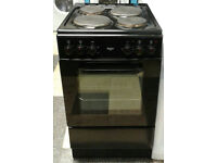 c766 black bush 50cm solid ring electric cooker comes with warranty can be delivered or collected