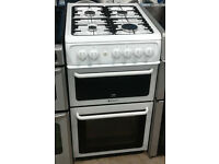 *235 White Hotpoint 50cm Gas Cooker Comes With Warranty And Can Be Delivered