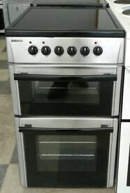 I373 stainless steel beko 50cm ceramic electric cooker with warranty can be delivered or collected